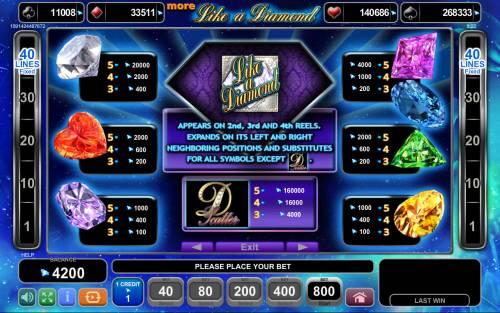 more Like a Diamond review on Big Bonus Slots