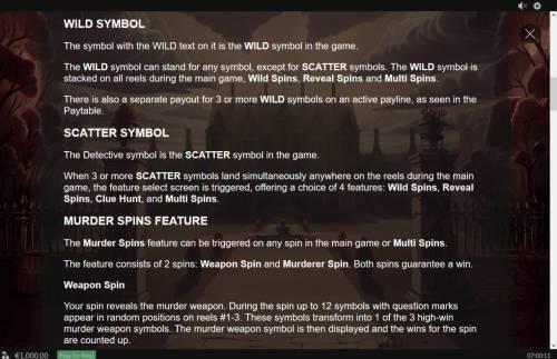 Murder Mystery review on Big Bonus Slots