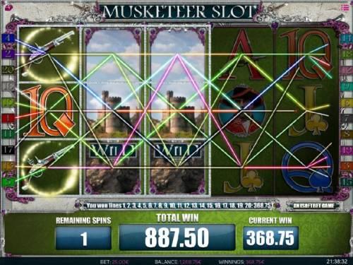 Muskateer Slot review on Big Bonus Slots