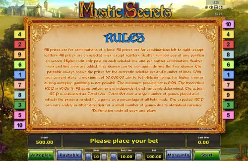 Mystic Secrets review on Big Bonus Slots