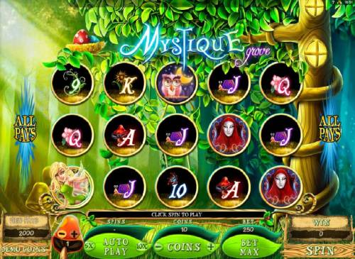 Mystique Grove review on Big Bonus Slots
