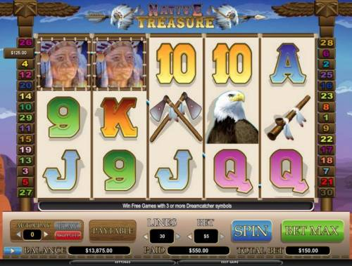 Native Treasure review on Big Bonus Slots