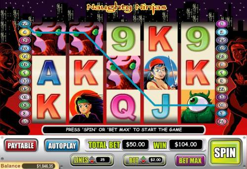 Naughty Ninjas review on Big Bonus Slots