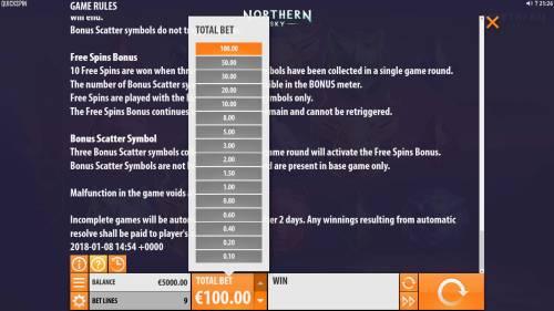 Northern Sky review on Big Bonus Slots