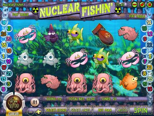 Nuclear Fishin' review on Big Bonus Slots