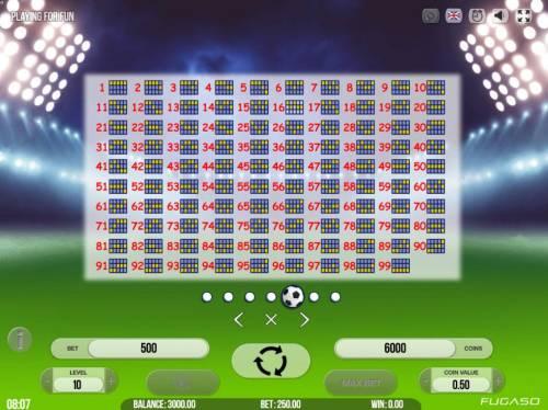 Number One Big Bonus Slots Payline Diagrams 1-99