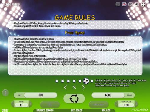 Number One Big Bonus Slots General Game Rules and Free Spins Rules
