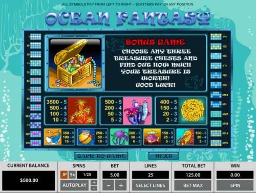 Ocean Fantasy review on Big Bonus Slots