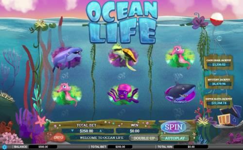 Ocean Life review on Big Bonus Slots