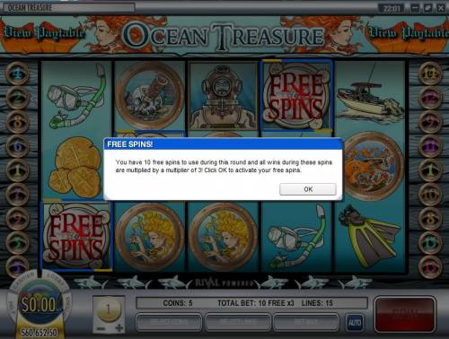 Ocean Treasure review on Big Bonus Slots