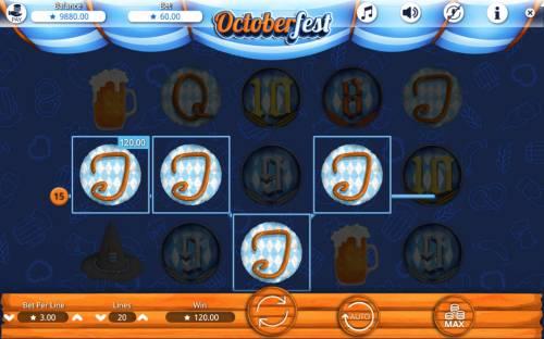 Octoberfest Big Bonus Slots A winning four of a kind