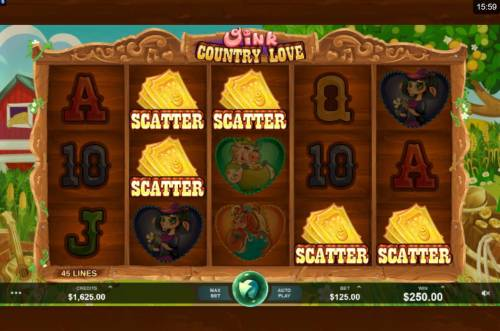 Oink Country Love review on Big Bonus Slots