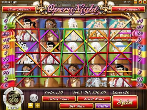 Opera Night review on Big Bonus Slots
