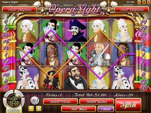 Opera Night review on Big Bonus Slots