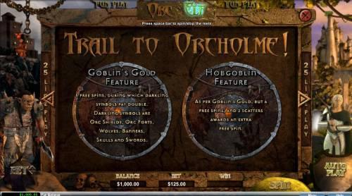 Orc vs Elf Big Bonus Slots Trail to Orcholme Rules