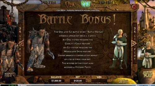 Orc vs Elf Big Bonus Slots Battle Bonus Rules