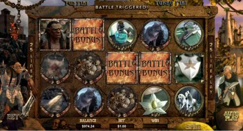 Orc vs Elf Big Bonus Slots battle bonus triggered