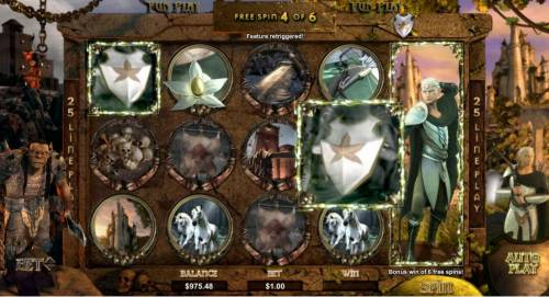 Orc vs Elf Big Bonus Slots free spins can be retriggered during the woodland spins feature