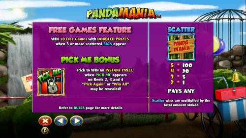 Pandamania review on Big Bonus Slots