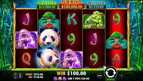 Panda's Fortune review on Big Bonus Slots