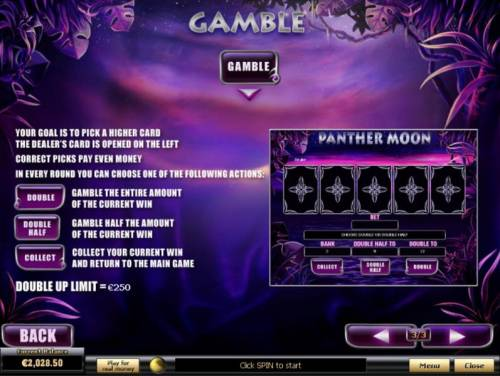 Panther Moon review on Big Bonus Slots