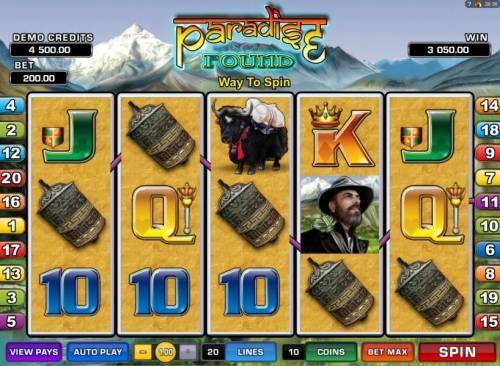 Paradise Found review on Big Bonus Slots