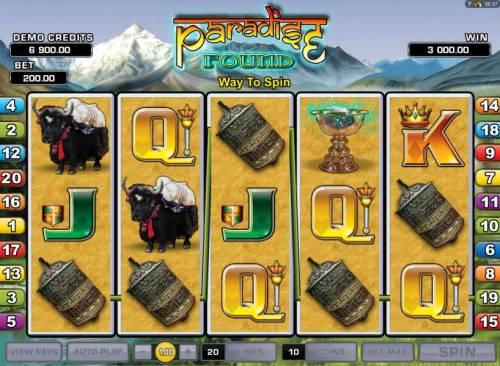 Paradise Found review on Big Bonus Slots