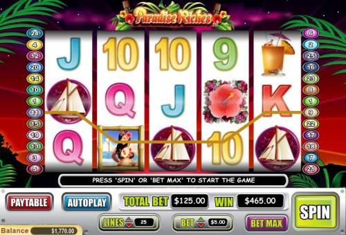Paradise Riches review on Big Bonus Slots