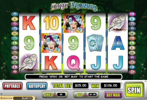 Tarot Treasure Big Bonus Slots