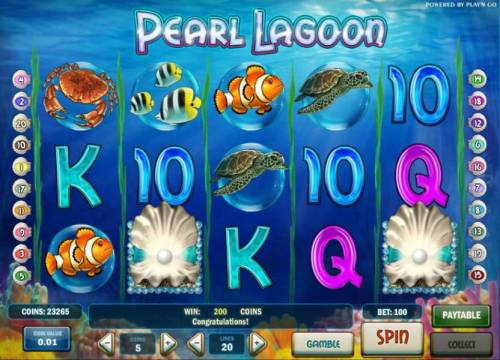 Pearl Lagoon review on Big Bonus Slots
