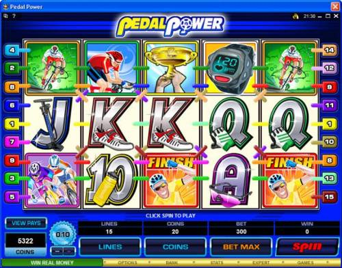 Pedal Power review on Big Bonus Slots