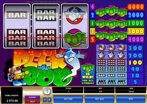 Peek-a-Boo review on Big Bonus Slots