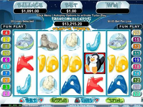 Penguin Power review on Big Bonus Slots
