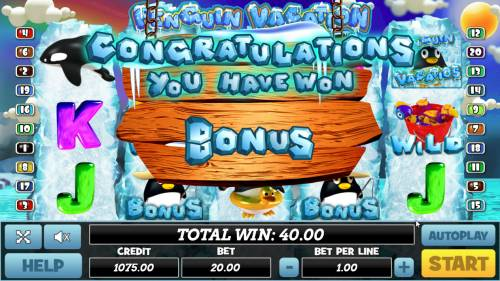 Penguin Vacation review on Big Bonus Slots