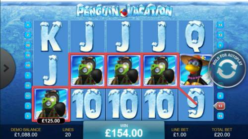 Penguin Vacation review on Big Bonus Slots