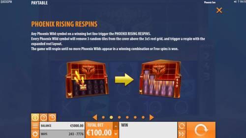 Phoenix Sun review on Big Bonus Slots