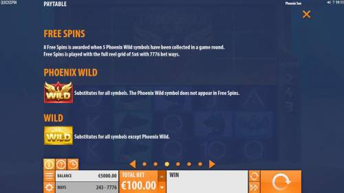 Phoenix Sun review on Big Bonus Slots