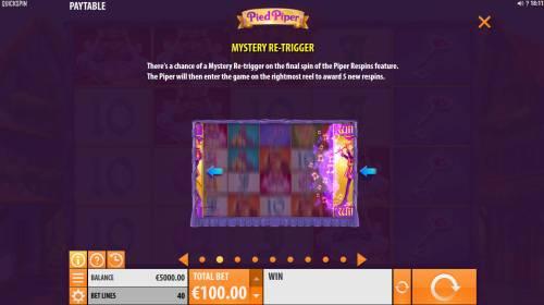 Pied Piper Big Bonus Slots Mystery Re-Trigger Rules