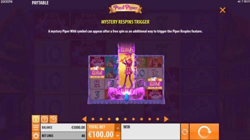 Pied Piper Big Bonus Slots Mystery Respin Trigger
