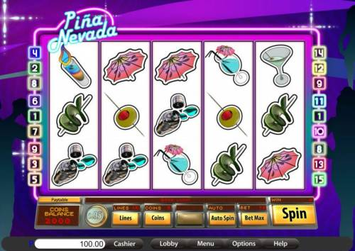 Pina Nevada review on Big Bonus Slots