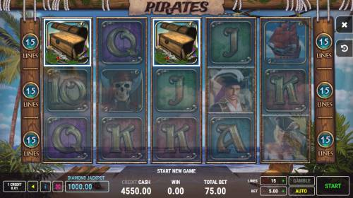 Pirates Big Bonus Slots Scatter win triggers the free spins feature