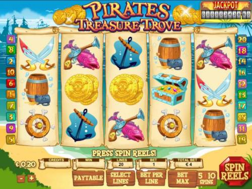 Pirates Treasure Trove review on Big Bonus Slots