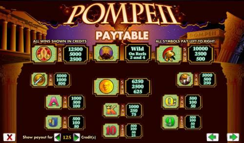 Pompeii review on Big Bonus Slots