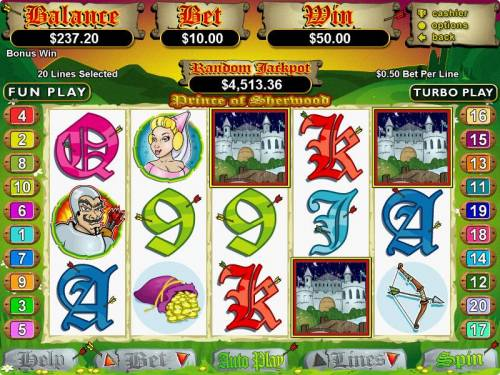 Prince of Sherwood review on Big Bonus Slots