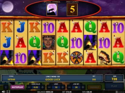 Princess Chintana Big Bonus Slots Free Spins Game Board