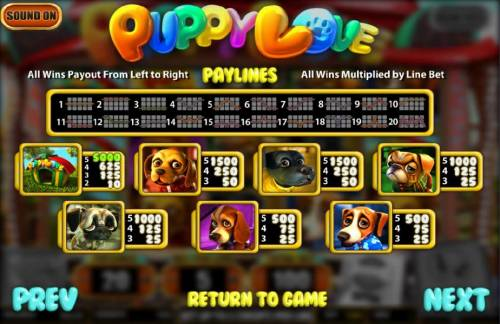 Puppy Love review on Big Bonus Slots