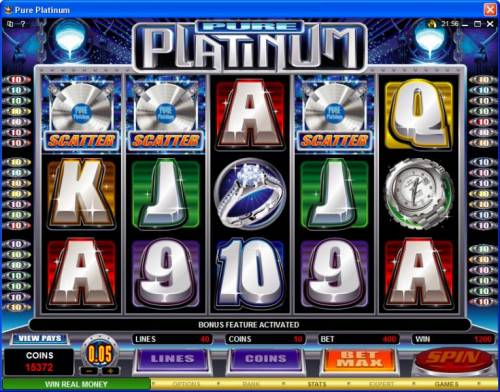 Pure Platinum review on Big Bonus Slots