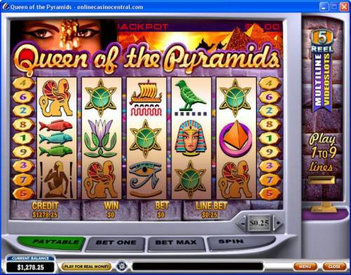 Queen of Pyramids review on Big Bonus Slots