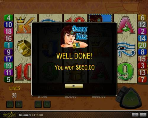 Queen of the Nile review on Big Bonus Slots