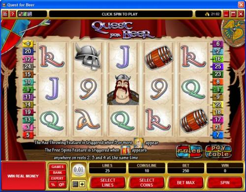 Quest for Beer review on Big Bonus Slots